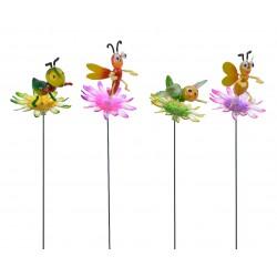 Pincho pájaro con flor,...
