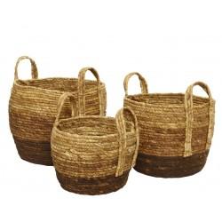 Set 3 cestas fibra natural,...