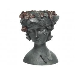Maceta busto mujer corona...