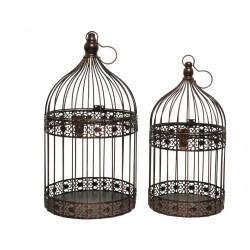 Set 2 jaulas pájaros, redondas