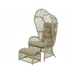Set sillón Sellin mimbre...