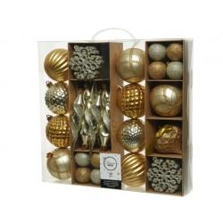 Caja  50 bolas dorado...