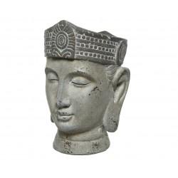 Maceta cabeza Buda exterior