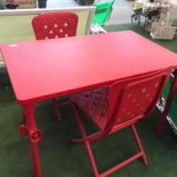 Conjunto terraza rojo: mesa...