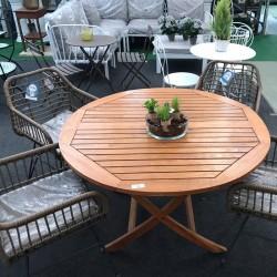 Conjunto mesa madera y 4...