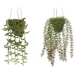 Planta artificial colgante...