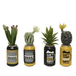 Cactus artificial en maceta...
