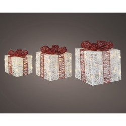 Set 3 cajas regalo blancas...