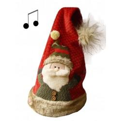 Gorro Papá Noel con música...