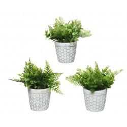 Planta artificial en maceta...