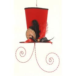 Sombrero con remolino rojo...