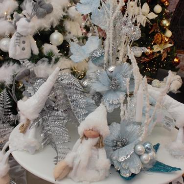 Centro de Navidad azul