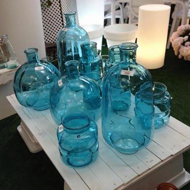 Cristal azul decoración
