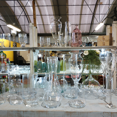 Cristal transparente decoración