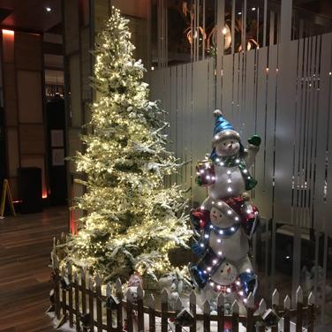 Decoración de Navidad restaurante