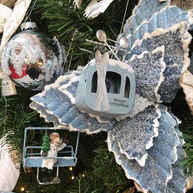 Telecabina decoración de Navidad