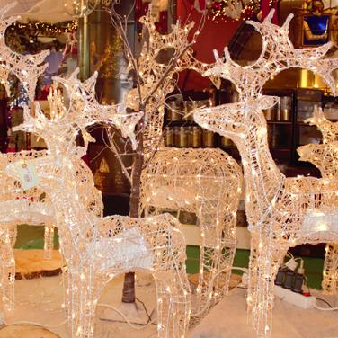 Renos luces de Navidad