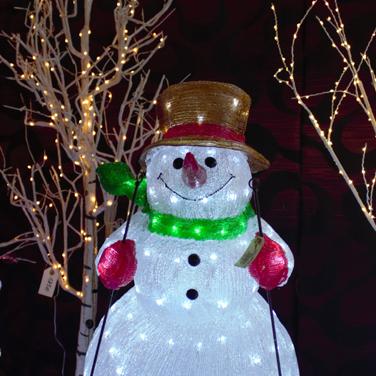 Muñeco de nieve luces de Navidad