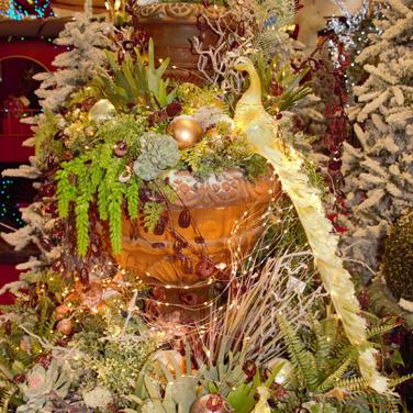 Fuente decoración de Navidad