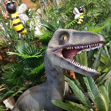 Dinosaurio para jardín