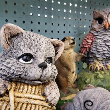 Figuras animales jardín