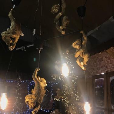 Lámpara de mono